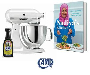 Win a KitchenAid Mixer, book and Camp Coffee!!