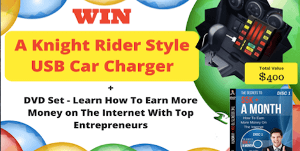 Win a Knight Rider Style USB Car Charger + Internet Business DVD Set
