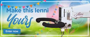 Win a Lenni longarm quilting machine!! (Monthly gift basket winners: In June and July, one lucky entrant will receive an APQS Quilting Gift Basket full of thread, patterns and other great APQS goodies.)