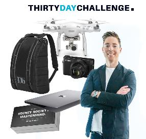 Win a Macbook, DJI Phantom 4 Drone, Db Backpack, Canon G7X and Enrollment in the Secret Society Mastermind training program ($33,000+ in total prizes)
