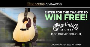 Win a Martin D-18 Dreadnought Acoustic Guitar
