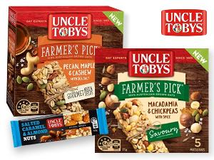 Win a months supply of Uncle Tobys muesli bars Australia Residents Only)""