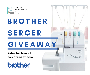 Win a NEW Brother 1034DX Serger Sewing Machine!!