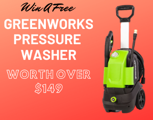Win a New Greenworks Pressure Washer ( Worth Over : $149.99)