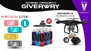 Win a Nintendo Switch Lite-1 winner; H68G Drone-1 winner & 12 Pack Maddog Fuel-1 winner!!