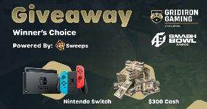 WIN A Nintendo Switch or $300 Cash!!