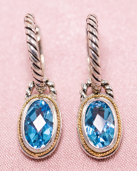 Win a Pair of Blue Topaz Earrings! (Value at $899.00)