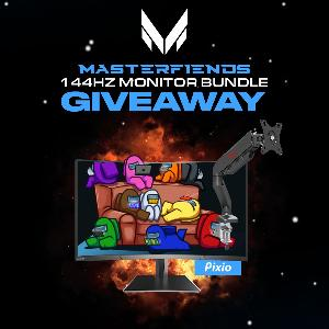 Win a Pixio PX243 144Hz Gaming Monitor & Pixio PS1S Monitor Stand!