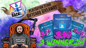 Win a Playstation Store $50 Gift Card -1 winner; Playstation Store $25 Gift Card -2 winners!!