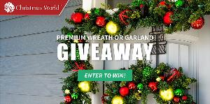 Win a Premium Wreath or Garland of your choice
