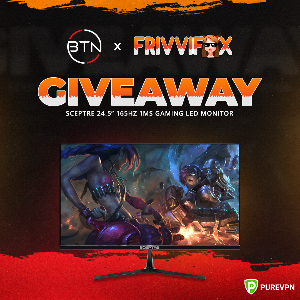 Win a Sceptre 165Hz LED Gaming Monitor !!