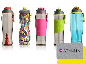 Win a Set of 50 Strong Simply Better Water Bottles & a $100 Athleta Gift Card!