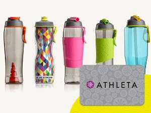 Win a Set of 50 Strong Simply Better Water Bottles & a $100 Athleta Gift Card!!!