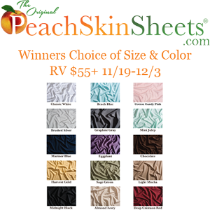 Win a Set of Sheets from PeachSkinSheets