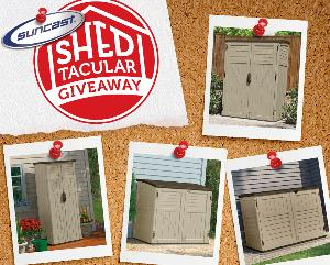Win a Shed from Suncast in their Shedtacular Giveaway