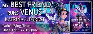 Win  A Signed Copy of My Best Friend Runs Venus + $20 Amazon Gift Card