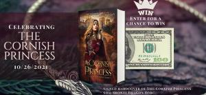 Win A signed hardcover of The Cornish Princess, Signed Bookmark, $100 ebook certificate to the ebook store of your choice, & A handmade bronze dragon torc necklace ($100 value)!