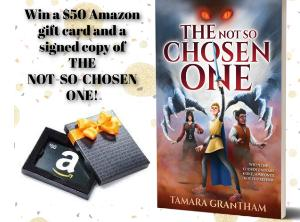 Win a Signed Not-So-Chosen-One Print Book and $50 Gift Card (US) Outside US winner will be given cash equivalent.