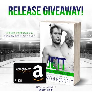 Win a signed paperback of Jett AND a $100 Amazon gift card!