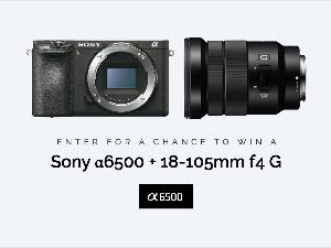 Win a Sony α6500 Mirrorless Camera w/ 18-105mm F4 G lens