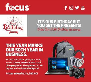 Win a Sony a6300 Camera, HP Laptop, Beyerdynamic Headphones and and Incase Backpack