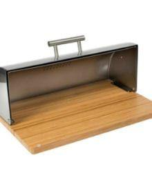 Win A Stainless Steel Breadbox with Bamboo Cutting Board