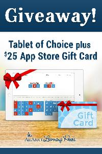 Win a Tablet and $25 App Store Gift Card!