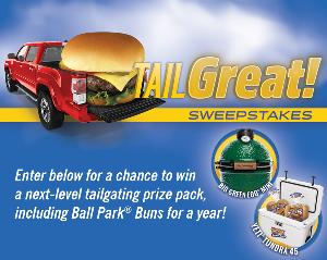 Win A tailgating prize pack consisting of a Big Green Egg MINI EGG, a YETI Tundra and more