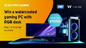 WIN a Thermaltake themed RGB PC and Battlestation desk with WD Black SSD worth well over £5000!