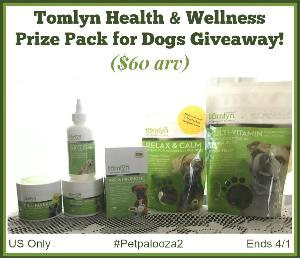 Win a Tomlyn Health & Wellness Prize Pack for Dogs ($60 arv)!