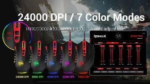 Win A Top Grade-Redragon M901 Gaming Mouse, Wired MMO RGB LED Backlit, 24000 DPI, with Weight Tuning Set & 18 Programmable Buttons for Windows PC Gaming