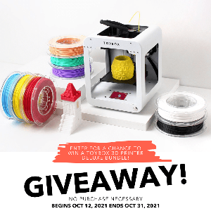 Win a Toybox 3D Printer Deluxe Bundle