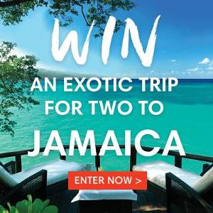 Win a trip for two to Jamaica ($4875)