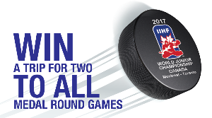 WIN: a Trip For Two to Montreal, Quebec to attend the World Junior Championchips