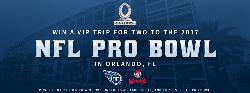 WIN: A TRIP FOR TWO TO THE 2017 NFL PRO BOWL