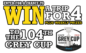 Win a trip to 104th Grey Cup Game