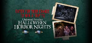 """WIN: a trip to Halloween Horror Nights at Universal Studios Hollywood or Universal Orlando Resort!"""""""