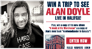 Win a trip to see Alan Doyle LIVE in Halifax