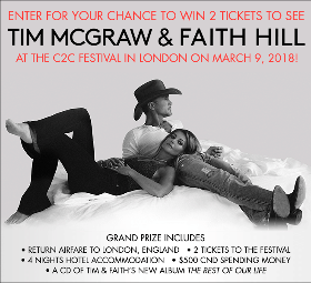 Win a Trip to see Tim McGraw and Faith Hill in London