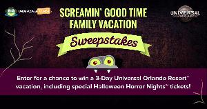 Win a Trip to Universal Orlando for their Halloween Event