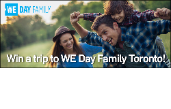 Win a trip to WE Day Family Toronto