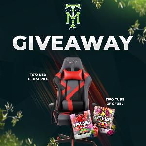 Win a TS70 Red Geo Series Gaming Chair & 2 Tubs of GFuel - Winner's Choice!!