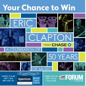 WIN A VIP TRIP FOR TWO TO SEE ERIC CLAPTON LIVE IN CONCERT