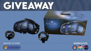 Win a VIVE Cosmos VR System-The VIVE Cosmos headset, Link Box, DisplayPort cable & Two Cosmos Controllers!!