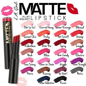 Win a Whole Collection of L.A. Girl Matte Lipstick!!