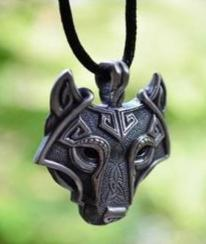 WIN: a wolf head necklace