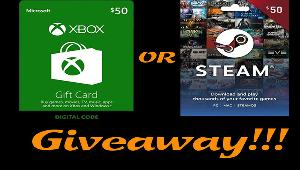 Win a XBox or Steam $50 gift code !!