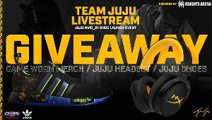 Win :adidas Originals NMD R1 (JuJu Exclusive)-6 winners HyperX Cloud MIX Headset-10 winners; JuJu Autographed Game-worn Merchandise-1 winner & JuJu Autographed Merchandise-3 winners!!
