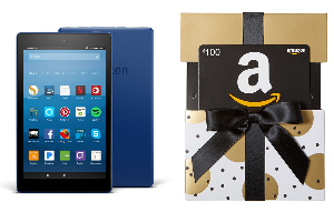 Win All-New Fire HD 8 Tablet with Alexa (16GB) & $100 Amazon Gift Card