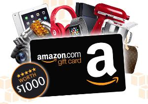 win amazon gift card worth $1000